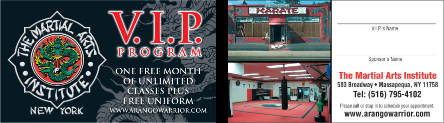 The Martial Arts Institute VIP program
